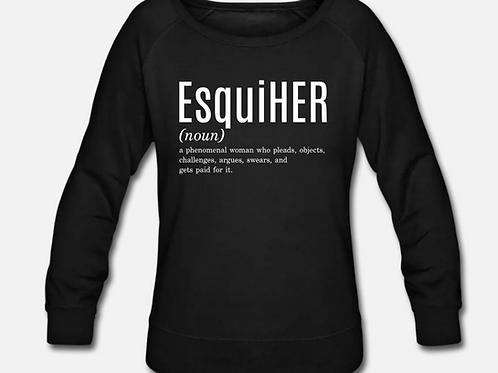 EsquiHER Crewneck Wideneck Sweatshirt