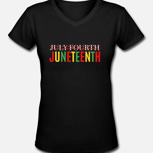 JUNETEENTH V-Neck T-Shirt