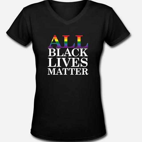 ALL Black Lives Matter V-Neck T-Shirt