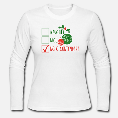 Naughty Nice No Contendere Long Sleeve Shirt