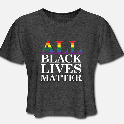 IN STOCK/ON SALE (1) XL ALL Black Lives Matter Cropped T-shirt