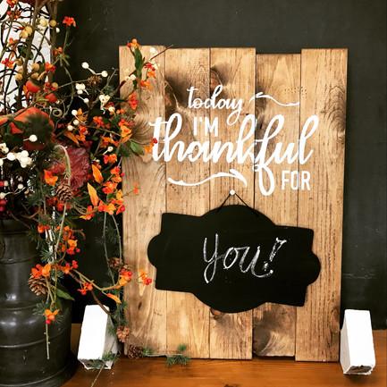 Thankful Chalkboard Sign