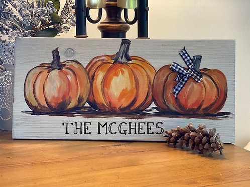 Wood Sign Pumpkin Paint & Sip by the Fire ~ Tuesday, 10/27 @ 5:30pm