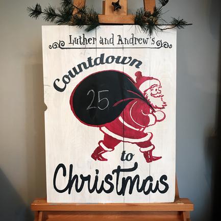 Santa Chalkboard Sign