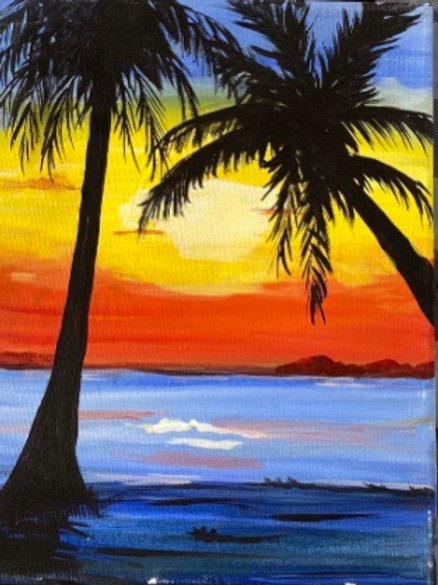 Karen's Beach Painting Party ~ Thursday, July 1 @ 5:30pm