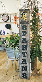 Spartan Porch Sign
