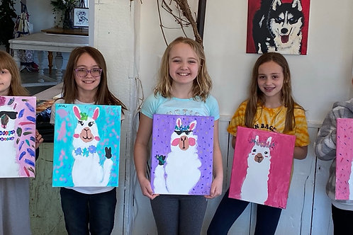 Llama Painting Class ~ August 27th ~ 11am-Noon