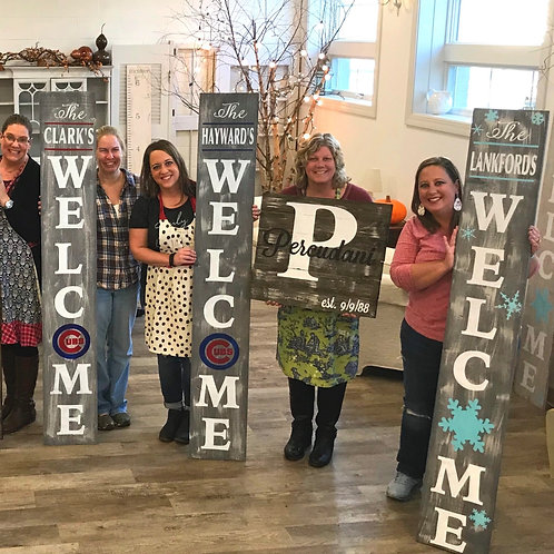 Tina's Private Wood Sign Party