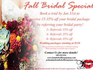 Fall Bridal Beauty Special