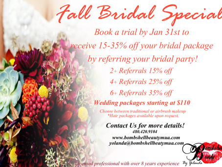 Fall Bridal Beauty Special