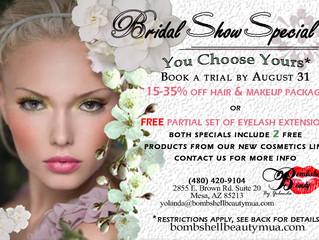 Bridal Special still going on till August 31st