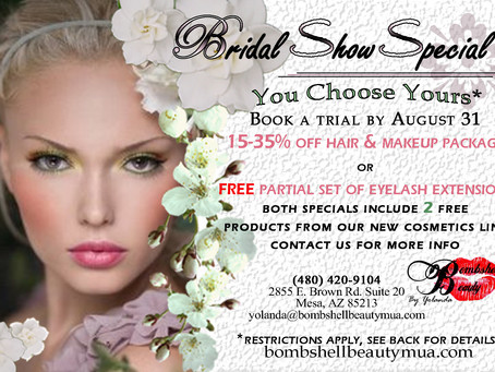 Bridal Special still going on till August 31st