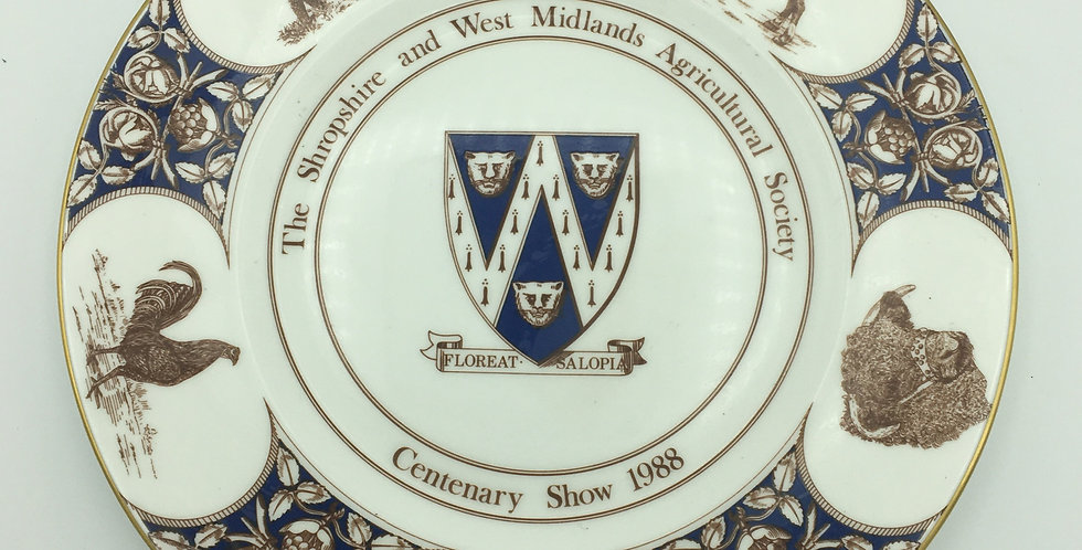 Coalport 1988 Shropshire & West Mids  Agricultural Society  Commemorative Plate