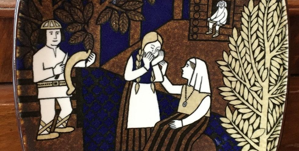 Arabia Finland Annual Plate 1992 - Kalevala Scandinavian Folk Art