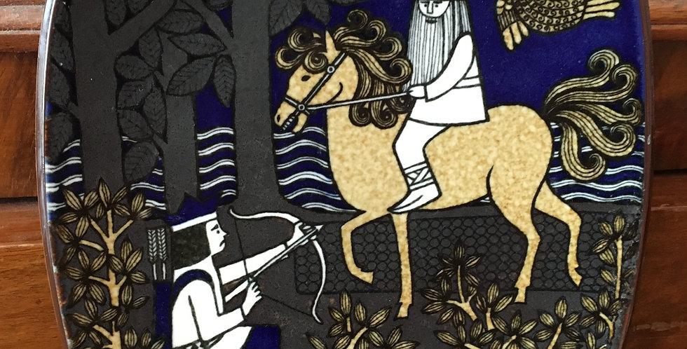 Arabia Finland Annual Plate 1982  - Kalevala Scandinavian Folk Art