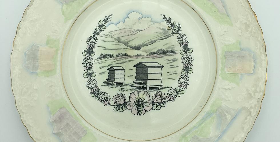 Royal Cauldon 1957  Shropshire W.I. Commemorative Plate Beehive