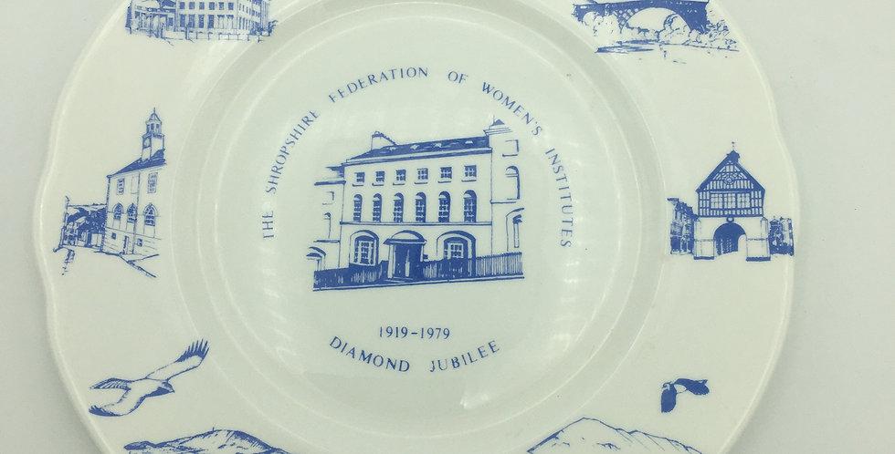 Shropshire Federation Womens Institute Diamond Jubilee Commemorative Plate