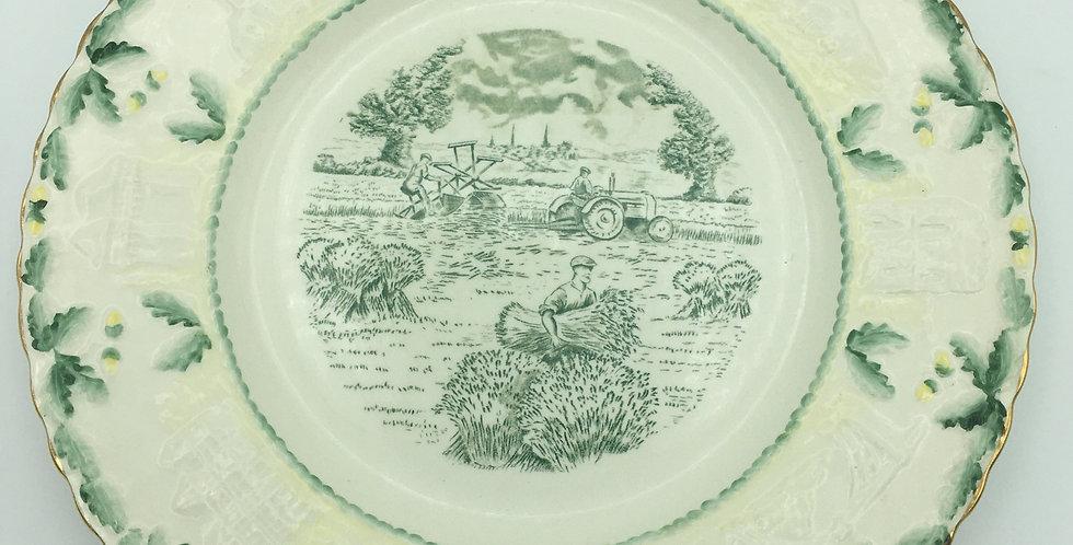 Royal Cauldon  1956 Shropshire W.I. Commemorative Plate Tractor