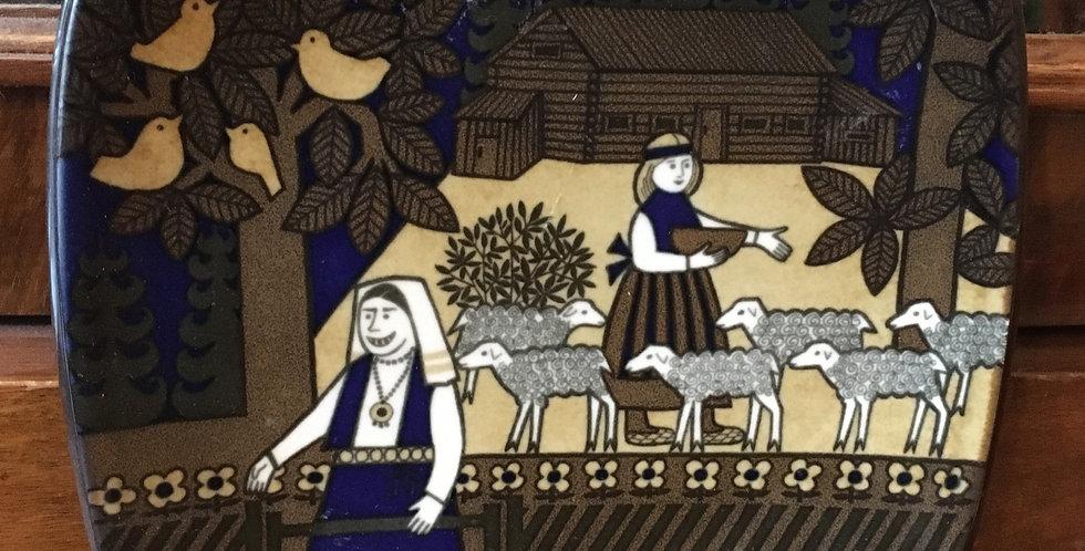 Arabia Finland Annual Plate 1988  - Kalevala Scandinavian Folk Art