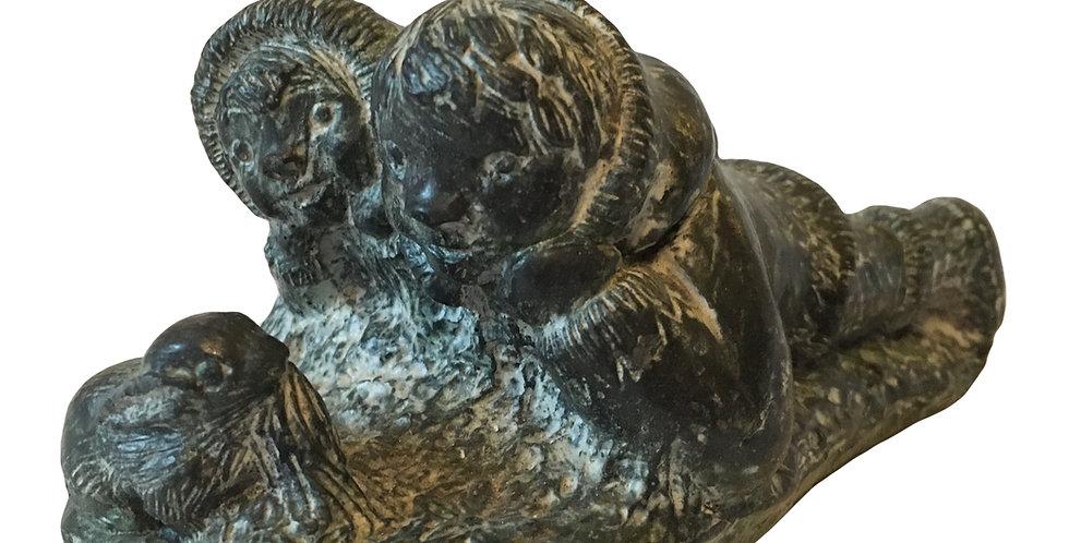 Eskimo Children Carving - Wolf sculpture Canada