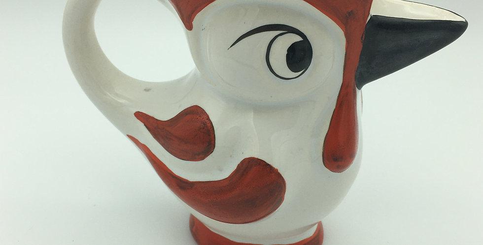 Art Deco Cockerel Jug Czech Pottery  by Ditmar Urbach