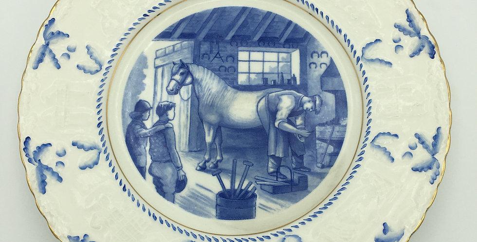 Crown Devon 1958 Shropshire W.I. Commemorative Plate Farrier