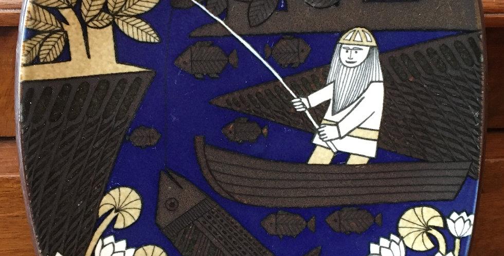 Arabia Finland Annual Plate 1985  - Kalevala Scandinavian Folk Art