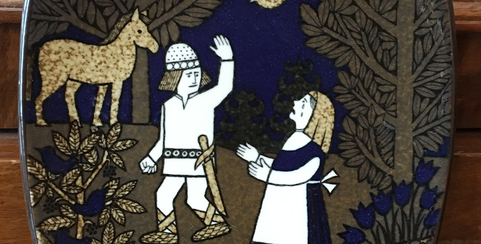 Arabia Finland Annual Plate 1991  - Kalevala Scandinavian Folk Art