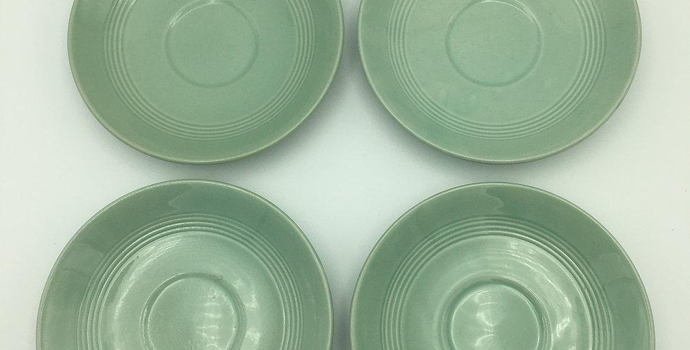Wood's Ware Beryl Green Saucers x4