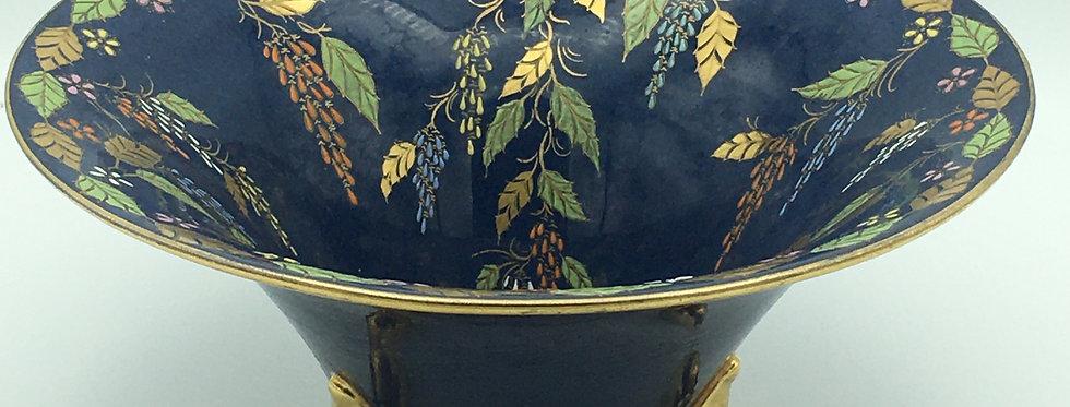 Carlton Ware - 'Bleu Royale' Floral pattern Conical Bowl