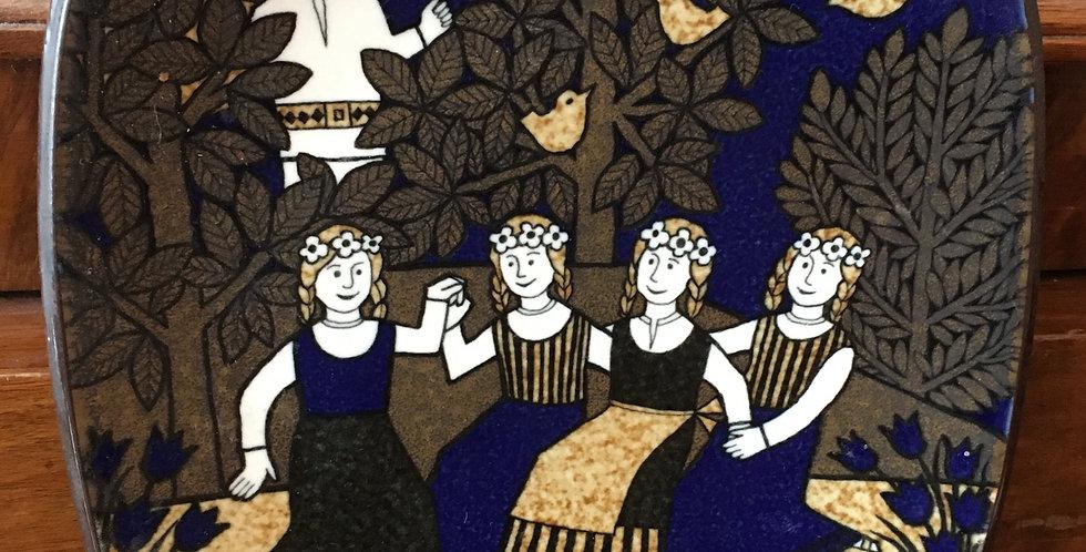 Arabia Finland Annual Plate 1989  - Kalevala Scandinavian Folk Art