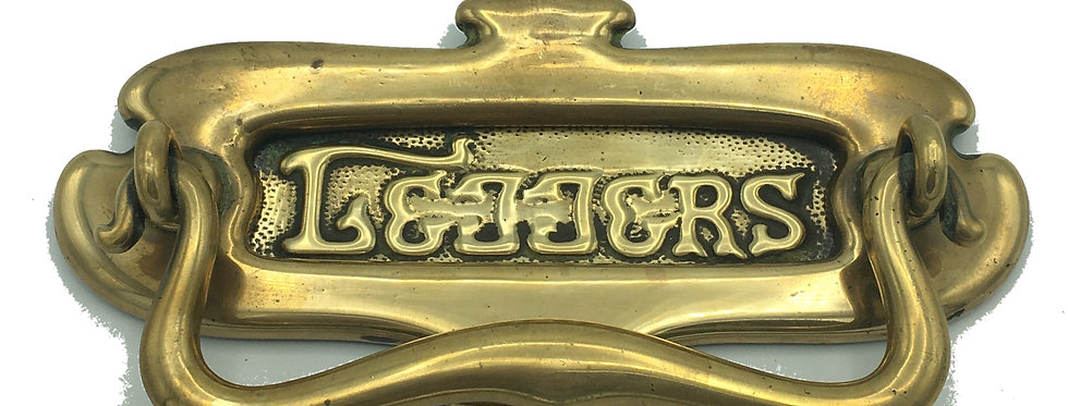 Art Nouveau Brass LETTER BOX / DOOR KNOCKER