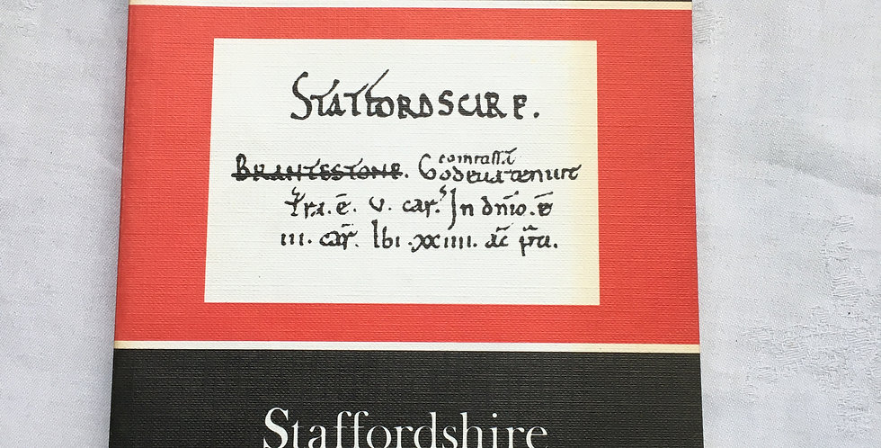 Local History Book - The Domesday Book: Staffordshire Phillimore