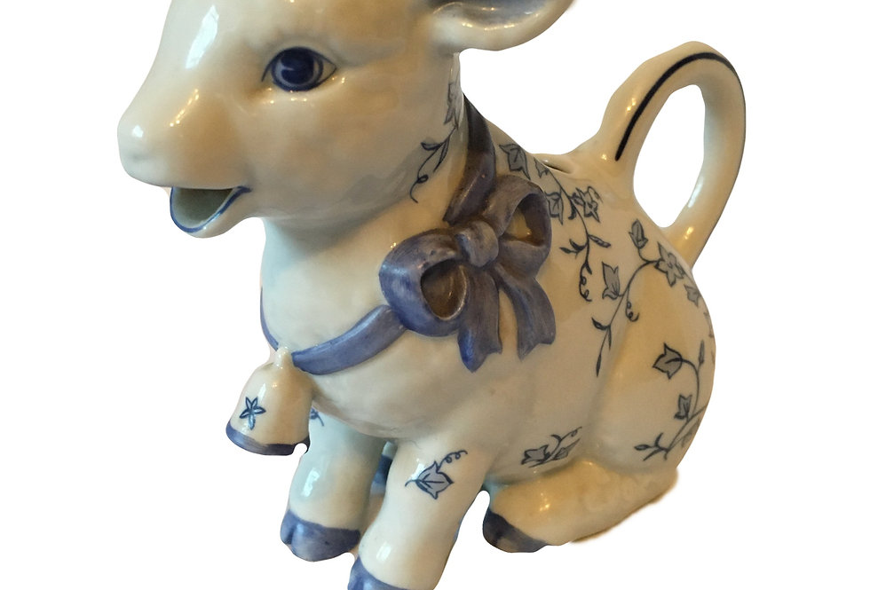 Country Friends COW CREAMER JUG Franklin Mint 1986