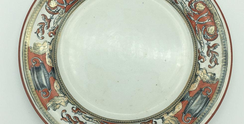 Antique Plate Hills Pottery Kensington Pattern 1875