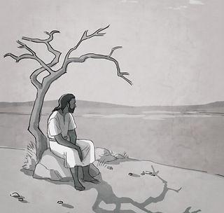 Jesus sitting by tree.jpg