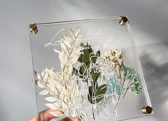 Preserved Flowers Coaster / Home Decor