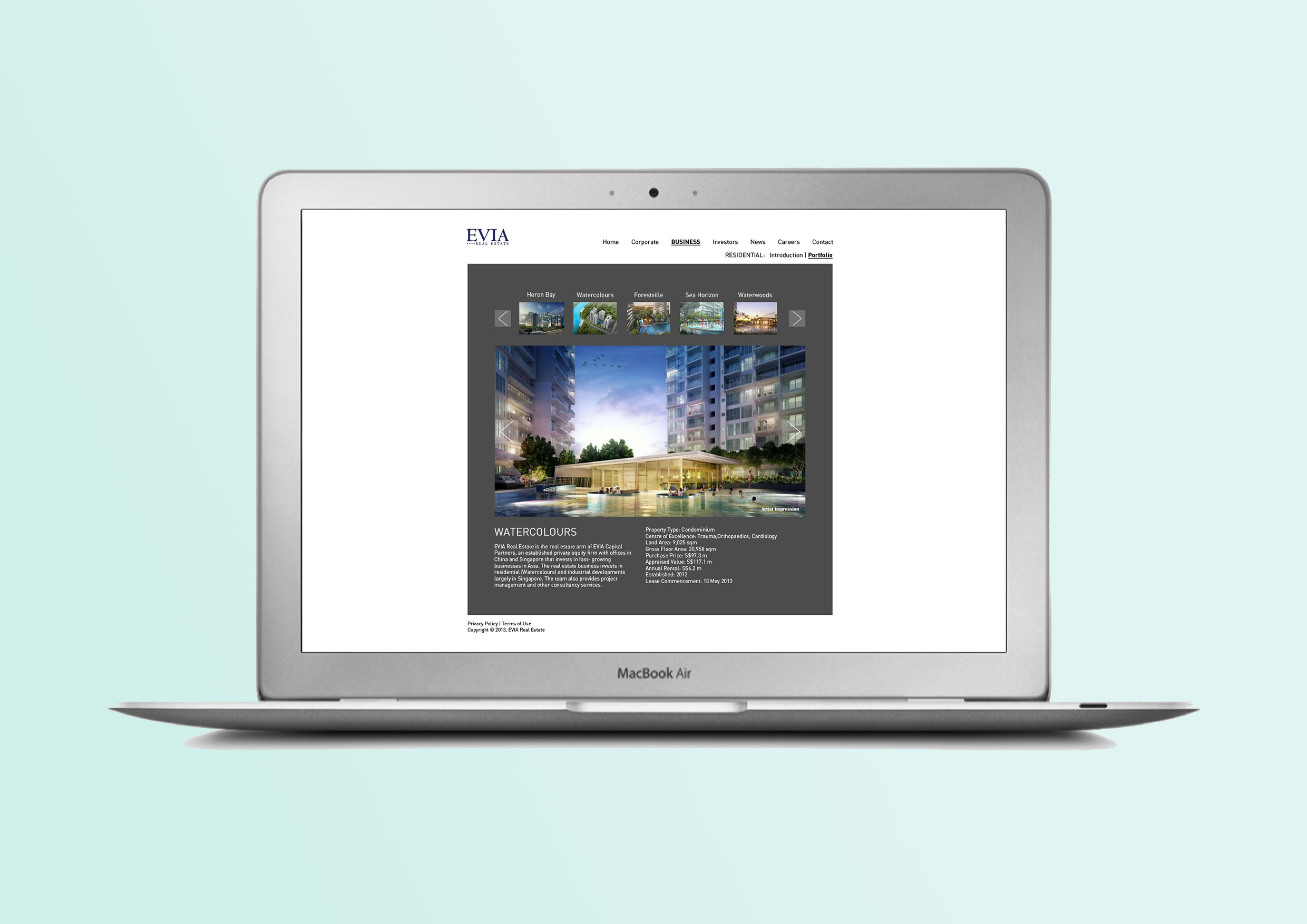 EVIA iSolutions Website Proposal