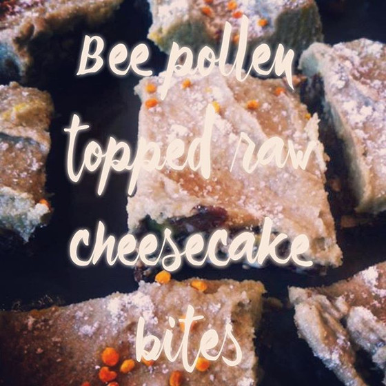 Raw Cheesecake with Bee Pollen