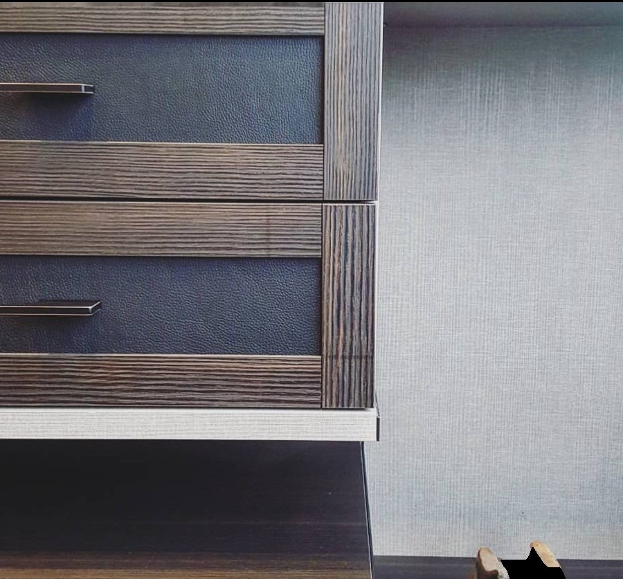 Leather Drawer Fronts