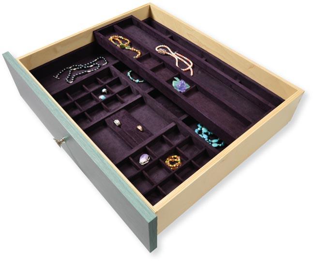 Jewelery 2 Tier Suede
