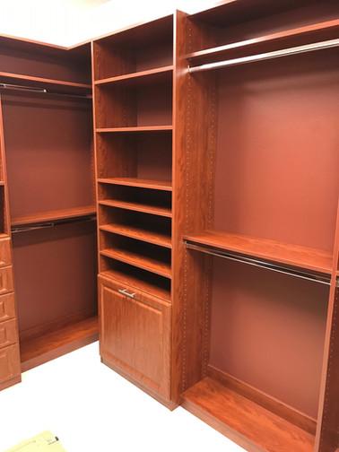 Wood Closet With Backing