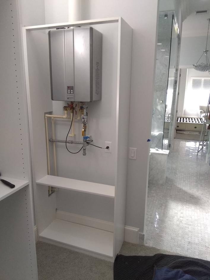 Water Heater Behind Doors