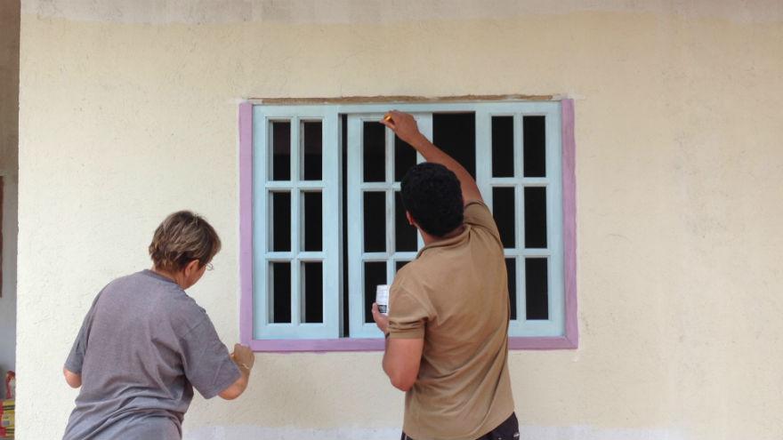 Pintando as janelas
