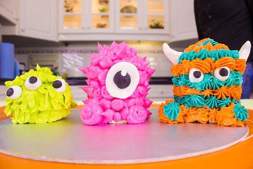 KIT Mini monster cakes