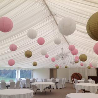 Pink, Gold & Natural Lanterns - Melville Castle