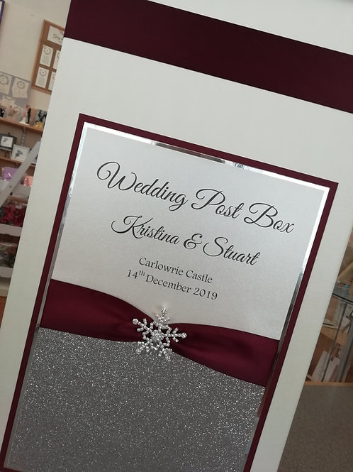 Snowflake Wedding Post Box