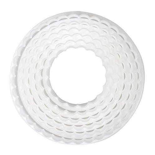 Cake Star Plain/Fluted Circle Cutters - Set Of 6