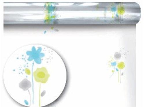 Cellophane Wrap with Floral Decoration - 60cm x 120 Meters - 40 Mi