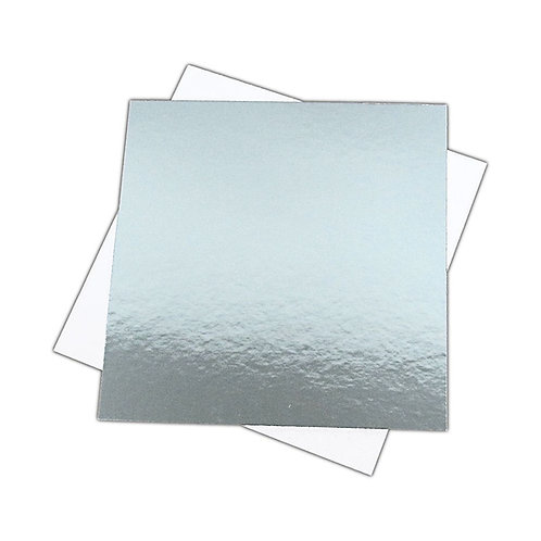 Square Silver Cake Card - 1.5mm Thick